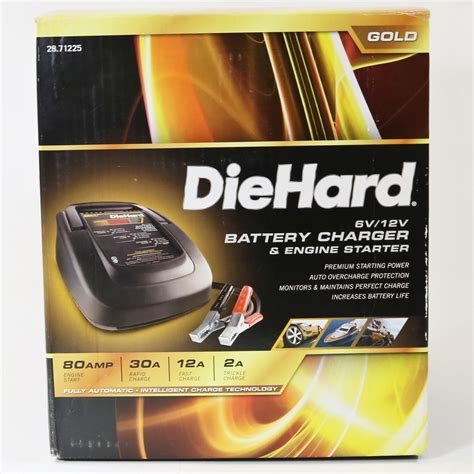 diehard battery charger and engine starter diehard 6v 12v battery charger engine starter 28 71225
