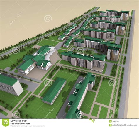 House 3d Model Free Download Model Of Modern City Layout Royalty Free Stock Photo