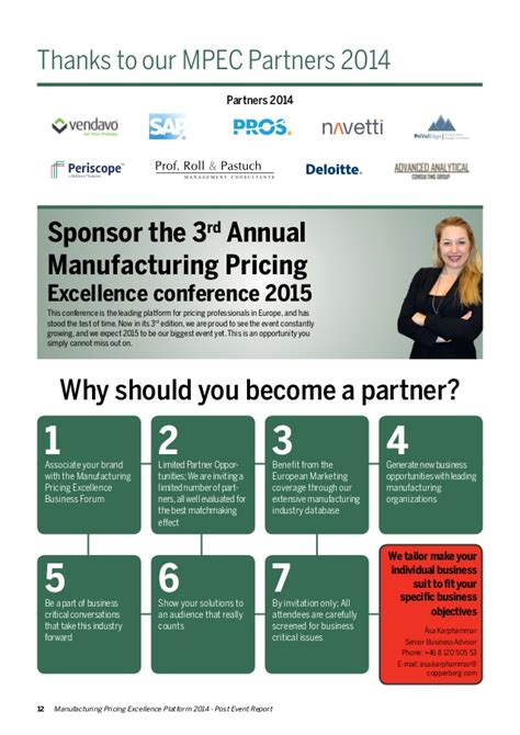 manufacturing pricing excellence  post event report