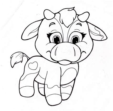 cute cow coloring pages cow coloring pages getcoloringpages com
