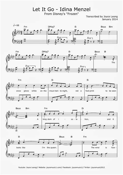 tutorial piano let it go frozen let it go piano sheet music for beginners free