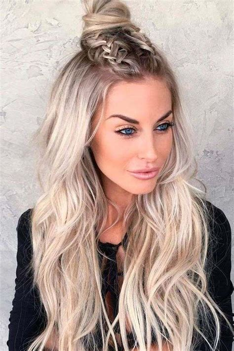 casual hairstyles down half up half down hairstyles festive and casual hairdos