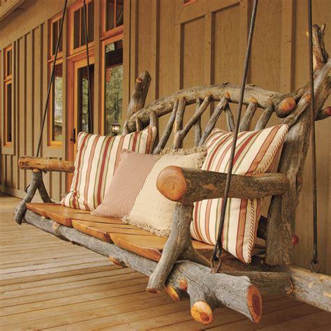 rustic porch swing tree wiz phoenix home garden