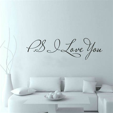 inspirational quotes decor for the home aliexpress buy 58 15cm ps i you wall decal