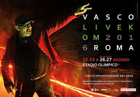 biglietti vasco 17 giugno vasco live stadio olimpico di roma il 26 e 27 giugno