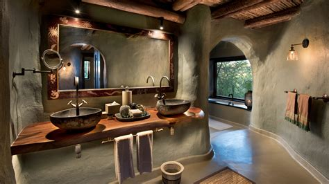 safari bathroom suites at andbeyond phinda rock lodge kwazulu natal