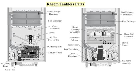 tankless water heater parts rheem wiring diagram for rheem hot water heater wiring diagram