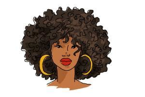 how to draw african american hair drawingnow