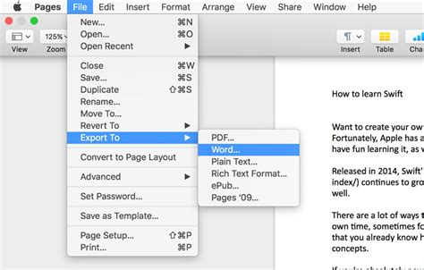 Pages Documents Between Mac And