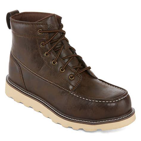 big mens boots big mac oak mens steel toe work boots jcpenney