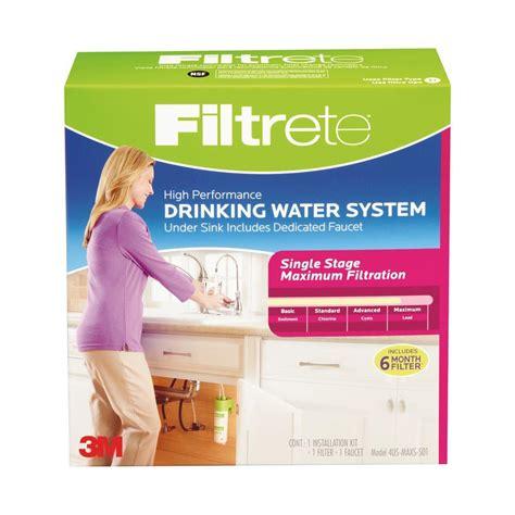 filtrete maximum sink water filtration filter filtrete single stage maximum filtration high performance