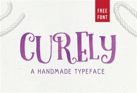 Handmade Fonts Free - curely free handmade font graphicsfuel