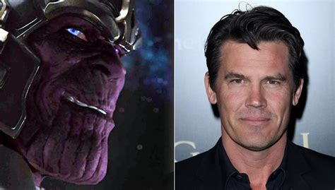 actors who could play thanos thanos is in guardians and josh brolin plays him