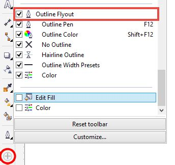 Corel Draw X7 Outline Pen | the tip of the week enable outline pen tool on toolbox