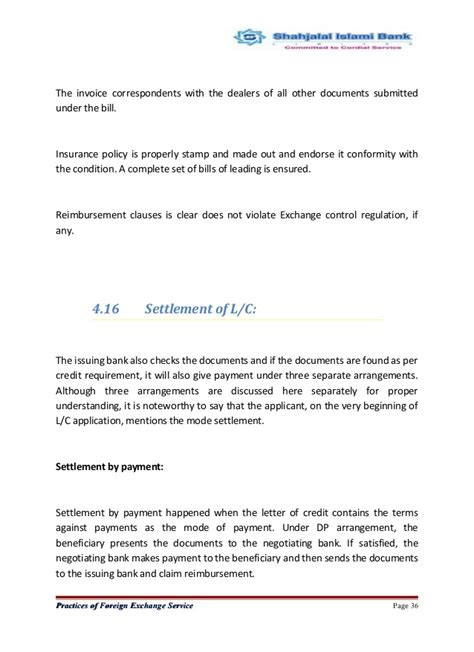 Letter Of Credit Expiration Date report on foreign exchange 1