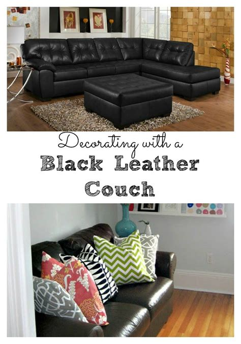 Decorating Around A Black Leather by Living Room Decorating Ideas Black Leather