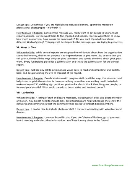 Donor Impact Report Template Sle Annual Report Template Free