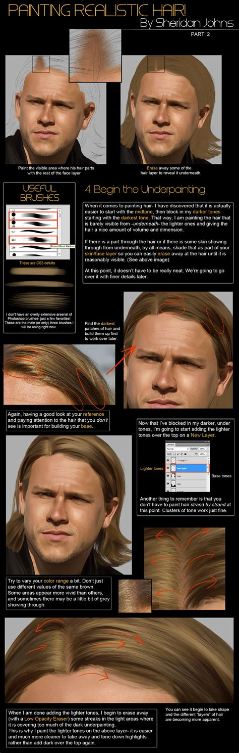 face typography tutorial photoshop cs5 painting hair part 2 base by sheridan j on deviantart