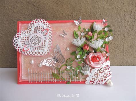 Handmade Flower Cards - cards crafts projects handmade flowers thank you card