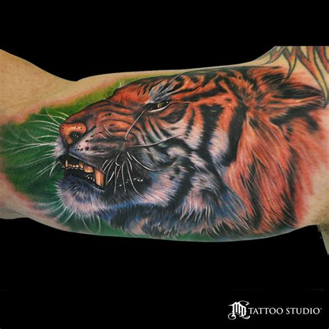 tattoo mike mike devries arm tiger