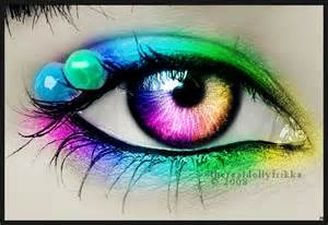 rainbow colored contacts rainbow eye by therealdollyfrikka on deviantart