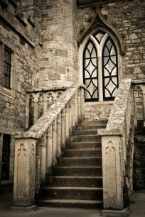 New England Home Plans medieval staircase in castle of st michaels mount stock