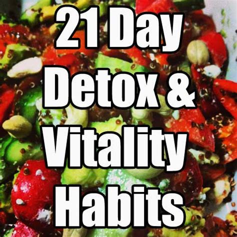 Butler Detox by 21 Day Detox Vitality Habits Self Challenge Pedia
