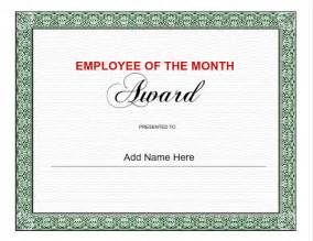 Employee Of The Month Certificate Templates Employee Certificates Use Iclicknprint Certificate Templates