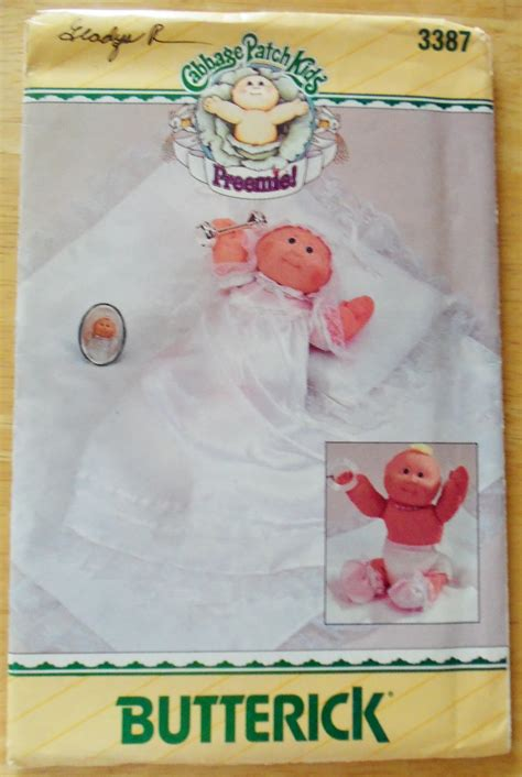 original butterick cabbage patch doll preemie pattern