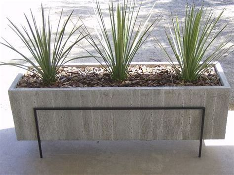 large concrete planter large wood grain concrete planter concrete planters and