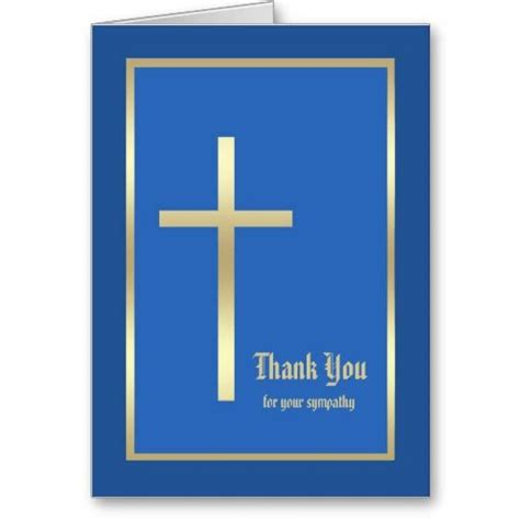thank you letter to religion religious sympathy thank you note card blue funeral
