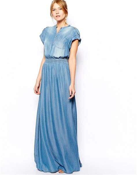Denima Maxy Dress women s denim maxi dress dress edin