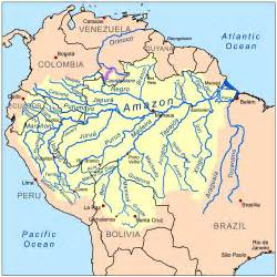 america river map orinoco river map