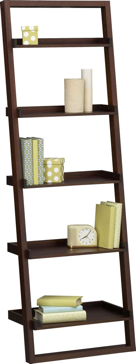 crate and barrel sloane leaning bookcase sloane java 25 5 quot leaning bookcase