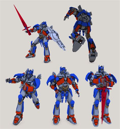 Tf4 Optimus Prime 3d tf4 optimus prime rig test updated model by