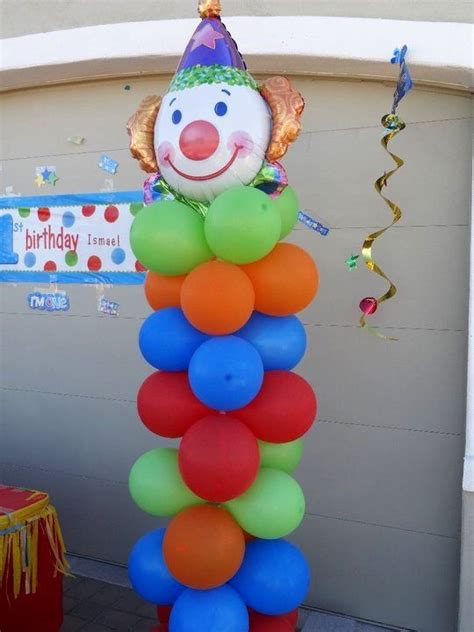 Clown Decorations by Carnival Clown Balloon Decoration Vbs