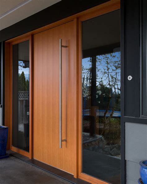 modern front door lights these 13 sophisticated modern wood door designs add a warm
