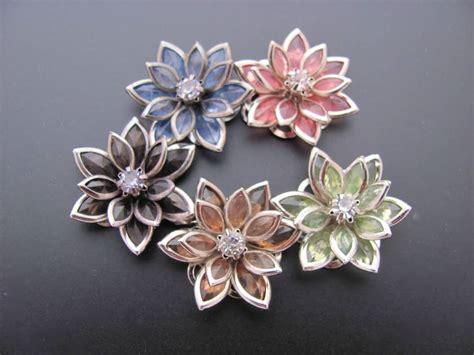 Flower Rhinestone Hair Pin pink flower rhinestone hair pins felt