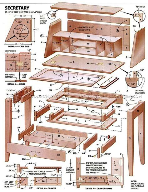 desk plans woodarchivist