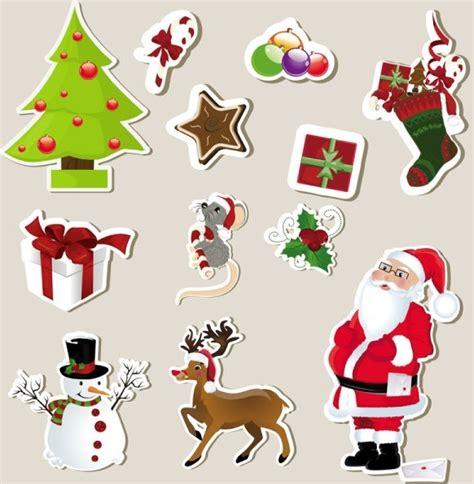 Aufkleber Weihnachten Kostenlos by Stickers Element 01 Vector Free Vector In
