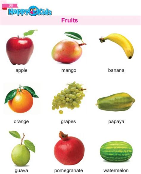 kindergarten science fruits httppreschoolwordzilacom