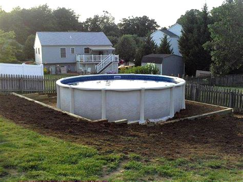 how to level backyard for pool level ground for pool pools pinterest pool retaining