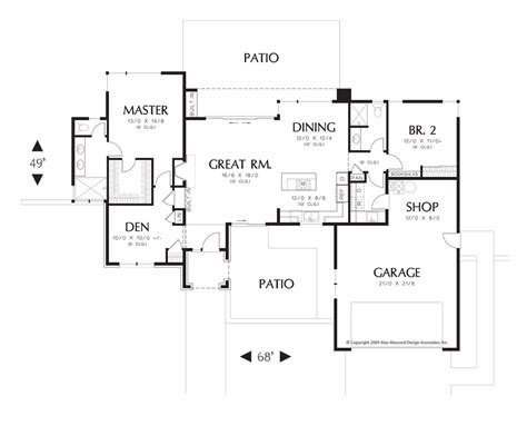 One Story Open Floor Plans The Advantages Of One Story House Plans Two Story