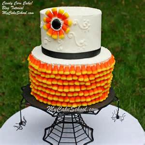 Halloween Cake Decorating - candy corn cake a cake decorating blog tutorial my cake