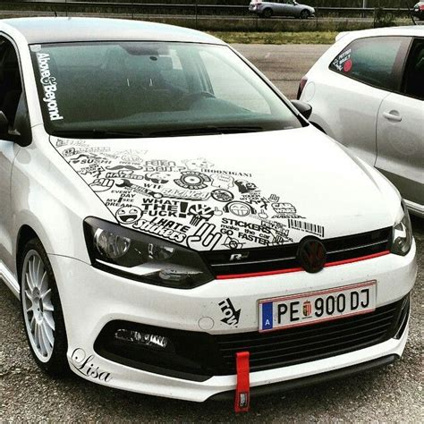 Tuning Aufkleber by Volkswagen Golf R Partial Sticker Bomb Black And White