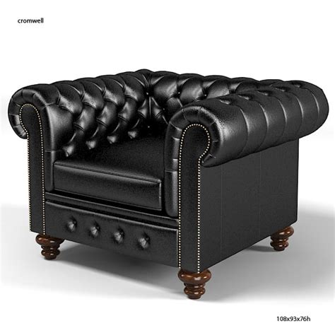 Chesterfield Armchair by 3dsmax Cromwell Chesterfield Traditional