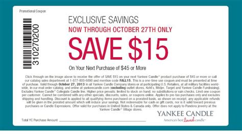 yankee candle coupons 15 off 45 printable pin by elisa moyer trombley on coupon pinterest