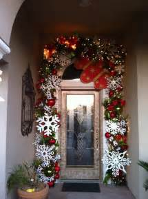 outdoor door christmas decor outside pinterest