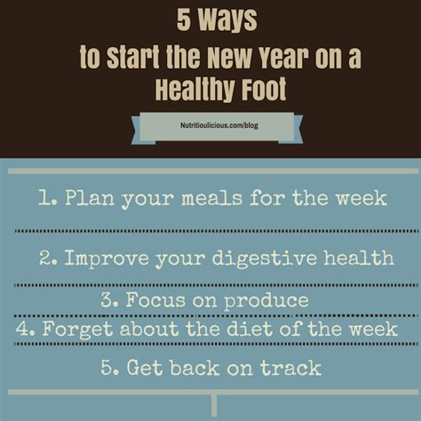 5 ways to start the new year on a healthy foot small bites by