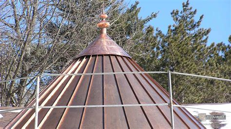 cupola roof copper roof with finial during installation cupolas and